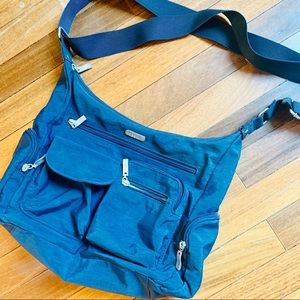 {BAGGALLINI} Small Blue Crossbody Tote Bag